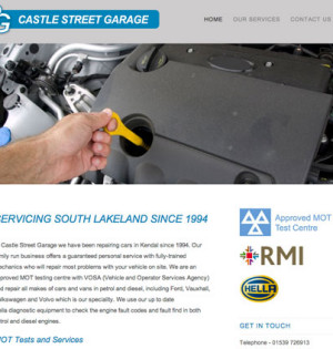 CMS Website – Castle Street Garage