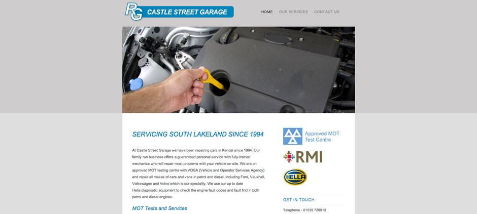 CMS Website – Castle Street Garage