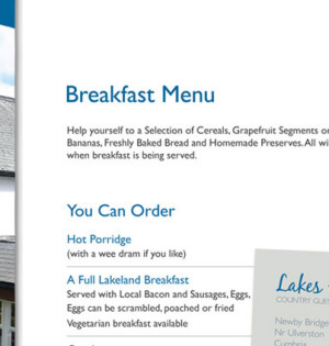 Branding for Lakes End Guest House