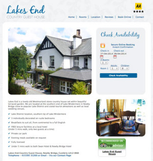 Website – Lakes End Guest House