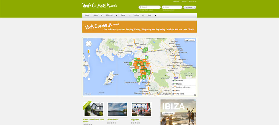 CMS Website – Viva Cumbria